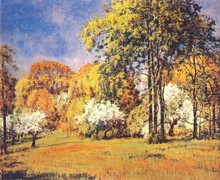 New and Hot Modern Handmade Oil Painting Trees for Decoration