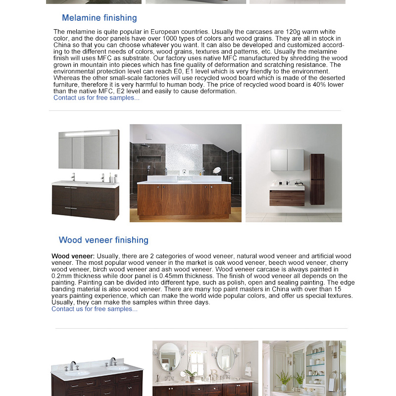 North America, Australia apartment hotel project modern bathroom vanity/bathroom vanity cabinet