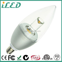 PSE certificated Energy Saving COB Led Candle Light 220V 100V Dimmable E12 LED Bulb 5W