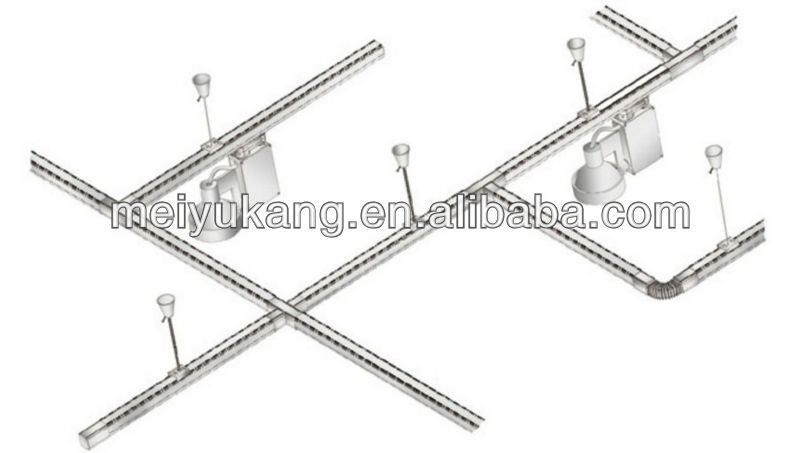 2 wire adapter white  black   silver track light rail adapter with aluminum for track light rail