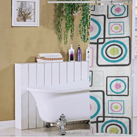 With Weighted Bottom 100% Polyester Printed Sheer Shower Curtain