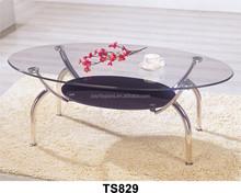 Fashion metal minimalist metal coffee table glass coffee table glass coffee table