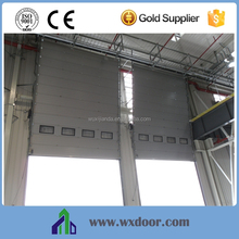 Germany quality Overhead sectional double track industrial door for warehouse used