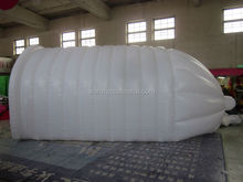 2015 new design condom shape advertising giant inflatable tunnel tent long channel tent white color