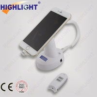 2015 retail anti lost EAS alarm mobile phone security holder and charger cell phone holder