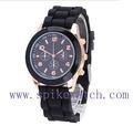 reloj de señora de la marca Señoras reloj análogo de cuarzo de silicona reloj de diamantes Reloj de marca