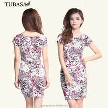 Wholesale Floral Printed t Shirt Patchwork Dresses from China