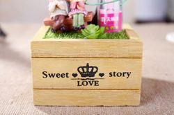 DIY engagement return gift fairy garden decor metal gift , rose gift