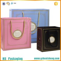 foldable Reusable paper promotional shopping bag gift bags with matt lamination