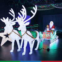 Outdoor riding inflatable christmas decoration