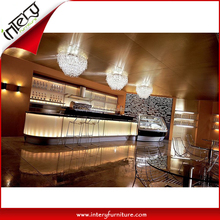 Durable Waterproof Artificial Marble LED Lighted Wine Bar Counter