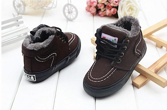 Новый утолщение мальчик снегоступы теплый хлопок обувь мала, чтобы помочь детям