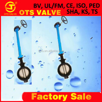 BV-SY-415 Hydraulic Power and Stainless Steel Material long stem butterfly water valve