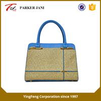 Unique design laser punching pu leather tote ladies handbag