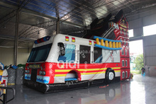 fire fighting truck inflatable/inflatale truck/inflatable fire truck slide