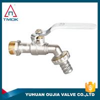 TMOK 1/2'' outdoor garden washing machine brass bibcock water bib tap with 3/4'' hose adapter hose connector