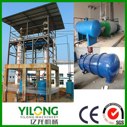 Collecting from cars/trucks/marines used hydraulic oil regenerative distiller