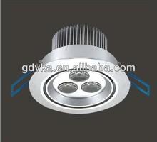 China VKA LED cabinet light,dimmable light,LED 3*1w,Aluminum