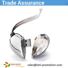 Hot sale OEM promotion gift item factory price custom necklace heart shape 8GB usb gift fashion with custom made logo