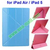 3 Folio Leather Cover for iPad Air/iPad 5 with Triangle Holder