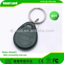 Waterproof RFID plastic key ring fobs
