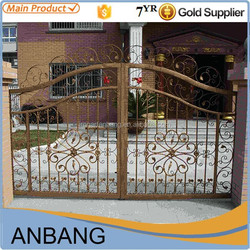 2015 Alibaba express wrought iron main gate design home