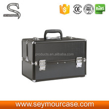 Beauty Black ABS Cosmetic Carry Case for Make-up Studio