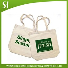 green environmental cotton cloth tote bag for promotion gift shopping packaging