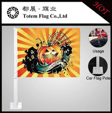 2015 Halloween Party Flags , Halloween Decorations , Car Window Flags