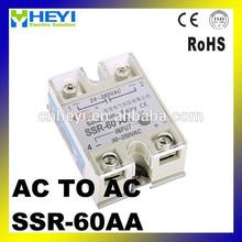 la rss de ca relé de amp 60 rss de relé de una sola fase de ca de salida de relés de estado sólido