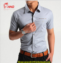 On Line Shopping Available Men's Shirt Fabric Office Short Sleeve Shirt