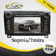 car dvd player gps navigation with bluetooth usb sd bulit in radio for toyota sequoia