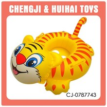 Funny cartoon tiger child inflatable swimming floats summer toy playing set