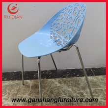 more beautiful dinong room furniture of plastic and steel chair A8010