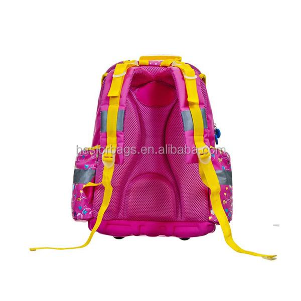 2015new mode de conception 3D à coque rigide sac d'école pour les filles