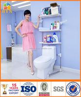 wholesale BYN 3-tier bathroom storage rack over toilet with towel bar 0053B SZ