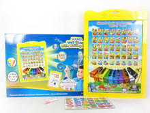 New product English and Russian language learning toy children education chart pictures