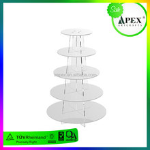 Vintage fancy wedding glass cake pedestal stand with cover