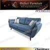 PFS390101 Deep blue color sofa ikea sofa fabric