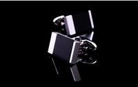 Hot sale Onyx cuff crystal copper-plated mens cufflinks French style decorative/ gifts cheap from China