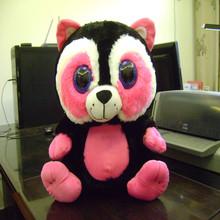 38cm beautiful promotional customized soft stuffed colorful plush owl bird toy with big eyes