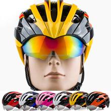 Attractive Designer Racing Bike Cycle Helmets Special Bike Helmet with Glasses