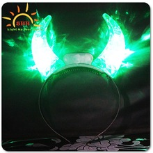 2015 Promotion Glowing LED devil horn headband made in china