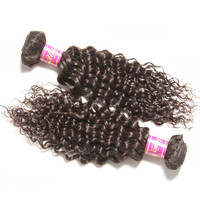 Grade 6A Malaysian Curly Virgin Hair With Lace Closure,100% Unprocessed Malaysian Jerry Curl Hair With Closure 4PCS Bundles Lot