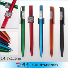 plastic push type with square clip ballpoint pen