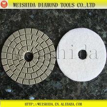 wet stone granite hand polishing tool,3 step polishing pad