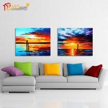 Handmade impressionism sea oil paintings