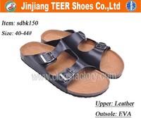 China Wholesale Men's Leather Cork Platform Sandal Shoes