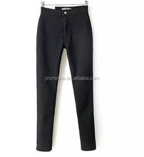 Calças jeans skinny abrindo quente com lã interior
