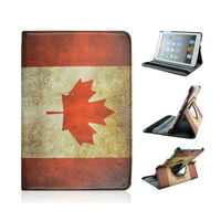 Factory Price New Arrival Product For Tablets Apple iPad Air 5 Canada National Flag Leather Case